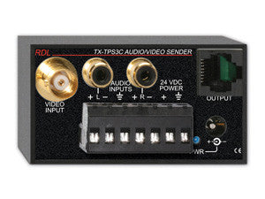 TX-TPS3C Active Three-Pair Sender - Twisted Pair Format-C - Composite video & stereo audio