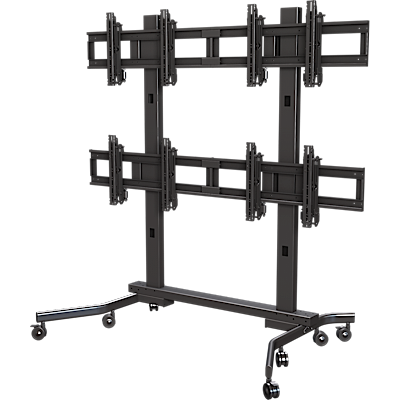 "Multi-display 2x2 cart for 37"" to 63""+ displays"