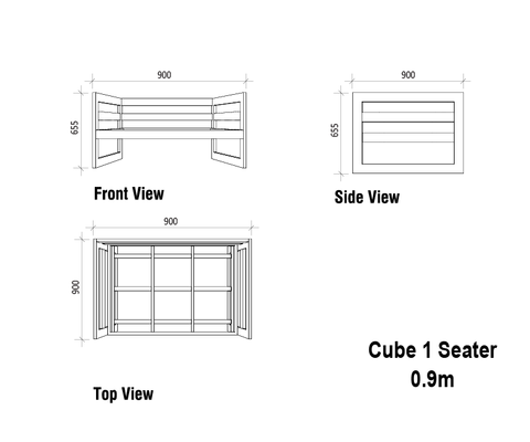 Steel Cube Couch - 1 Seater