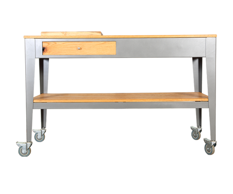 Ski Braai Trolley with Wooden Tray and Slats