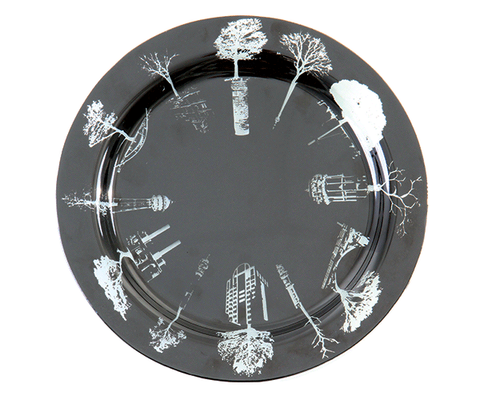 Symbols of the City Small Round Platter