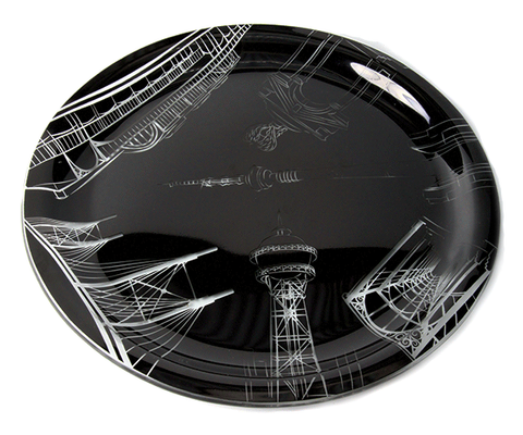 Symbols of the City Medium Glass Platter