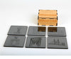 Symbols of the City Mirror Coasters - Set of 6