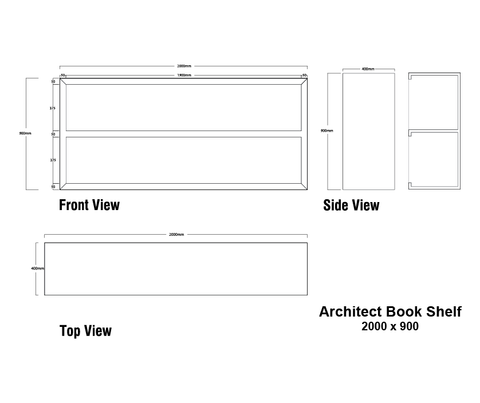 Architect Removable Book Shelf