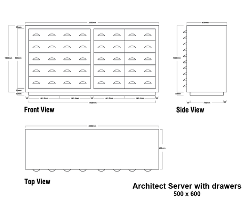 Architect Server with Drawers