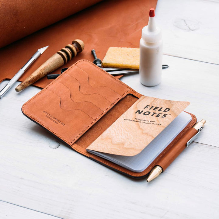 Making a Leather Notebook Wallet w/ Pen Holder || DIY Video