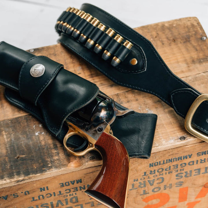 Making an Eastwood Leather Cowboy Fast Draw Holster and Belt || DIY video