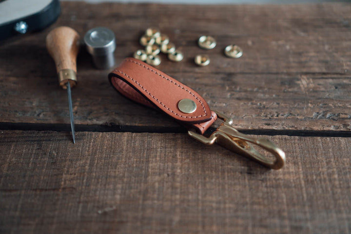 Making a Leather Key Piece