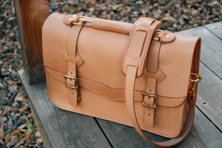 Making a Western Leather Laptop Bag