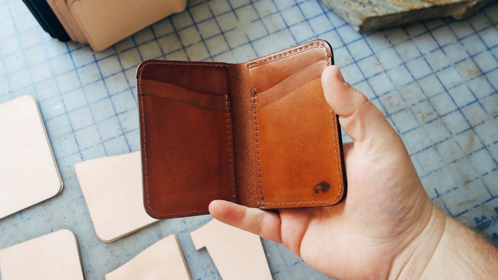 How we make our BEST selling leather wallet - No.52 Vertical Wallet