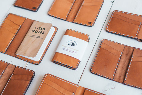 New leather wallets from Stock and Barrel