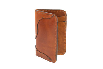 No.68 | 'Buck Brown' Western Vertical Leather Wallet