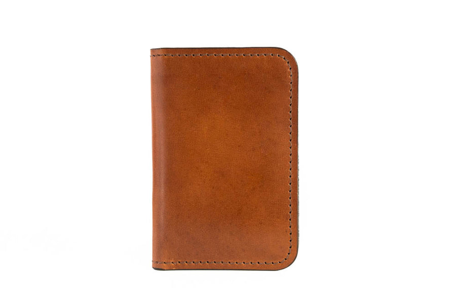 Blemished | No.52 | 'Buck Brown' Vertical Leather Wallet