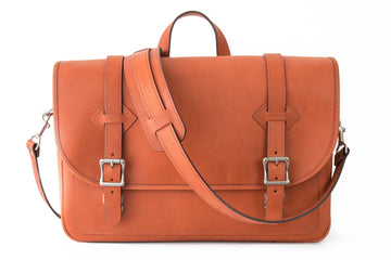 No.72 | 'Chestnut' Leather Messenger Bag