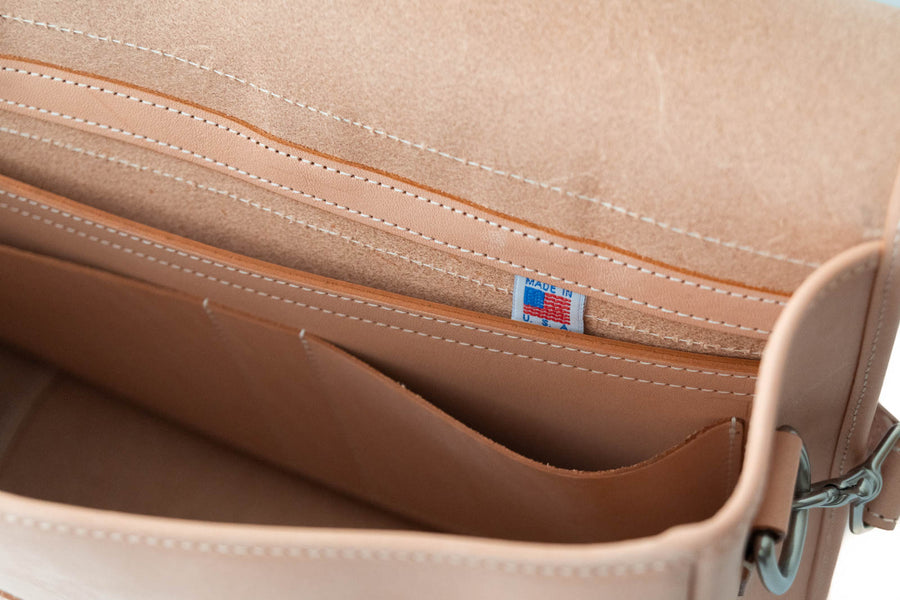 No.72 | 'Natural Oak' Leather Messenger Bag