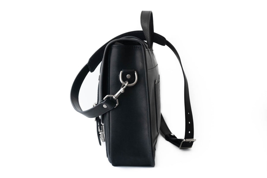 No.72 | 'Black Skirting' Leather Messenger Bag