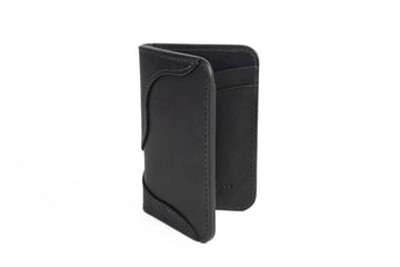 No.68 | 'Black Skirting' Western Vertical Leather Wallet