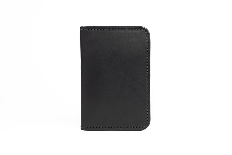 No.52 | 'Black Skirting' Vertical Leather Wallet