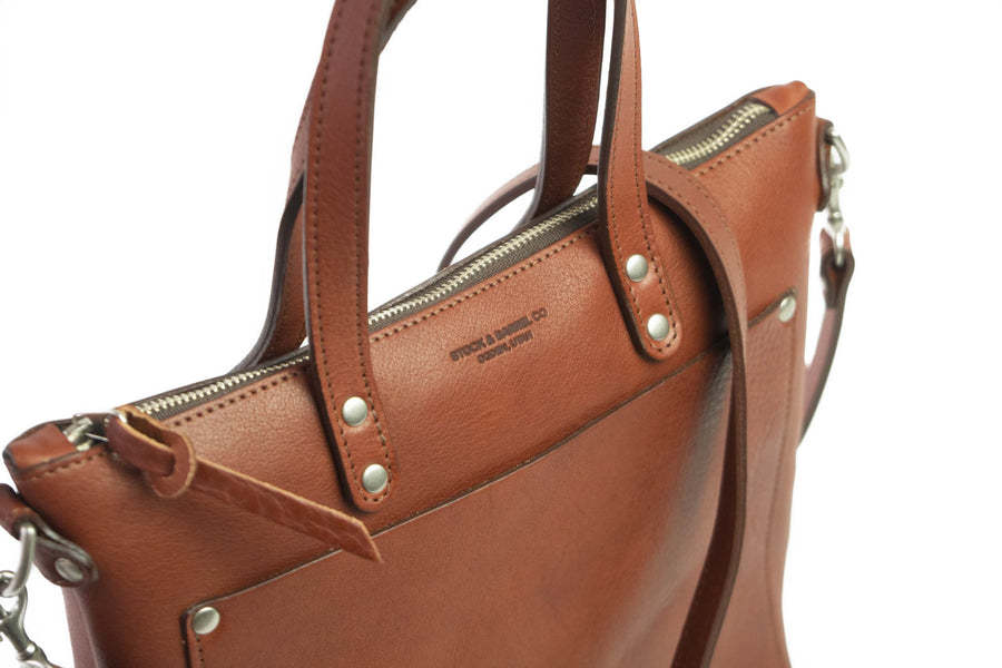 No.74 | 'Brown' Women's Leather Crossbody Tote Bag