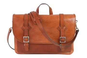 No.72 | 'Buck Brown' Leather Messenger Bag