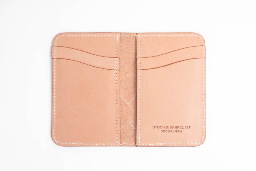 No.68 | 'Natural Oak' Western Vertical Leather Wallet