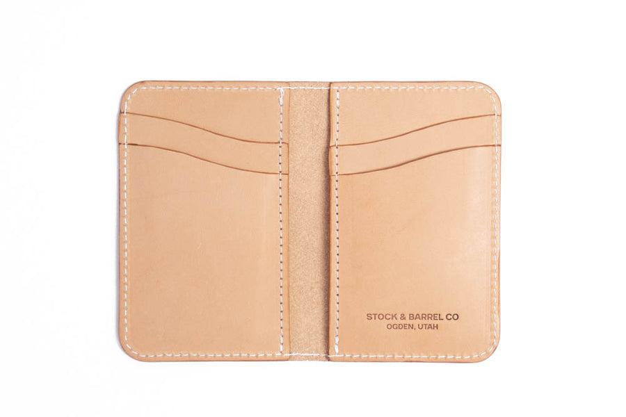 No.52 | Leather Vertical Wallet (Digital Pattern)