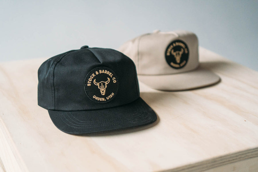 Bison 5 panel Hat 'Black'