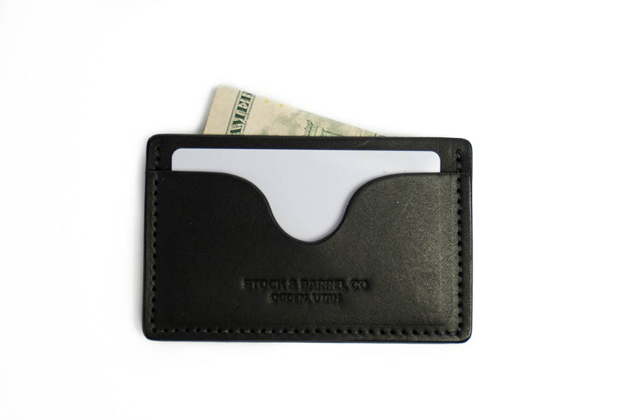 No.54 | 'Black Skirting' Minimalist Leather Wallet