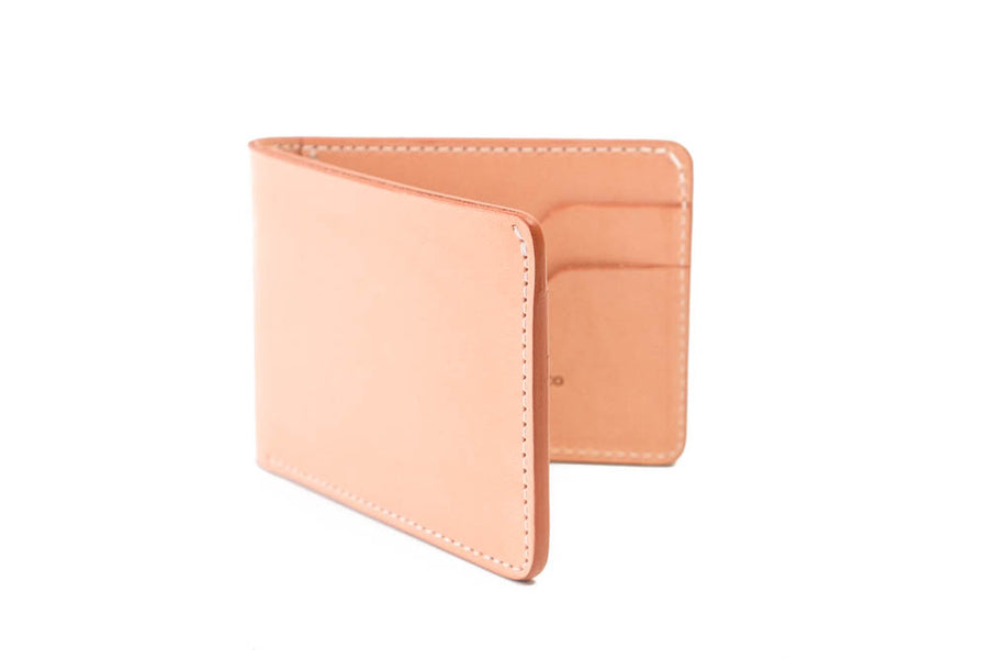 No.55 | 'Natural Oak' Men's Leather Bill Fold Wallet