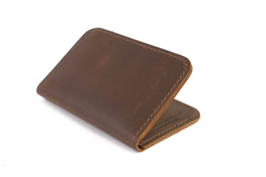 No.52 | 'Vintage Brown' Vertical Leather Wallet