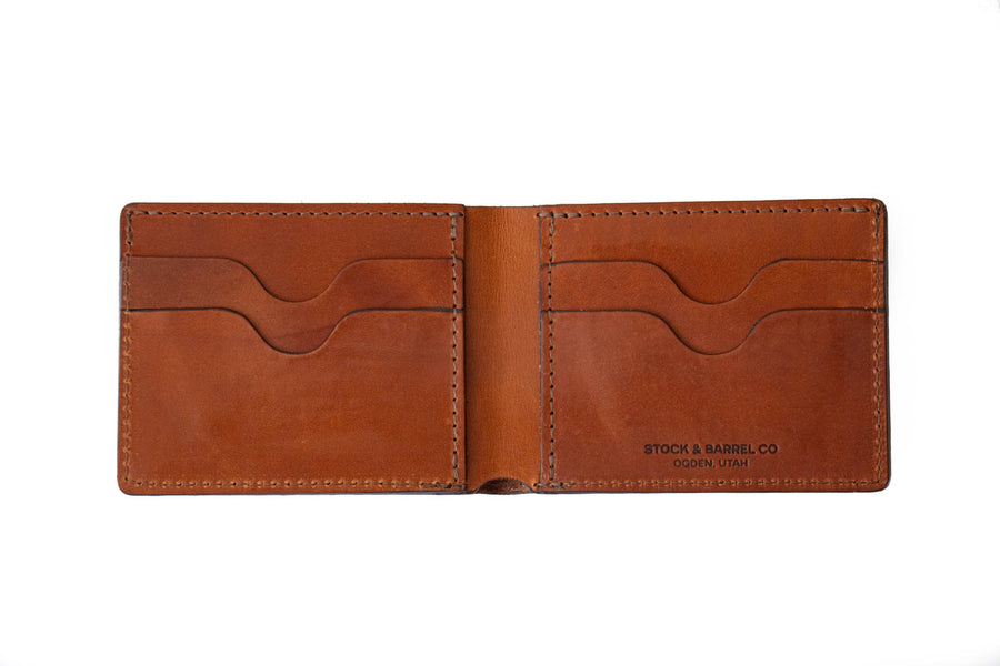 Blemished | No.55 | 'Buck Brown' Men's Leather Bill Fold Wallet