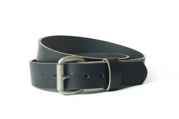 No.6 | 'Black' Rugged Leather Men's Belt