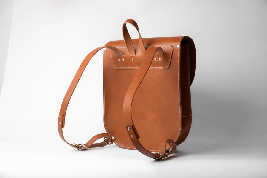 No.82 | Leather Saddle Backpack