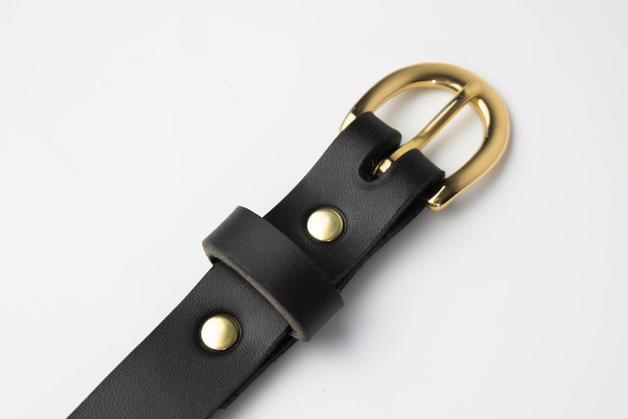 No.85 | 'Black' Leather Women's Belt