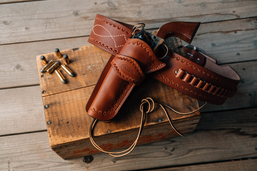 No.84 | 1873 Colt SAA leather gun belt and holster rig