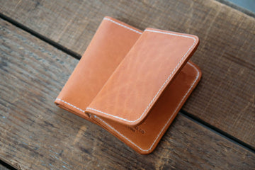No.52 | 'Natural Latigo' Vertical Leather Wallet