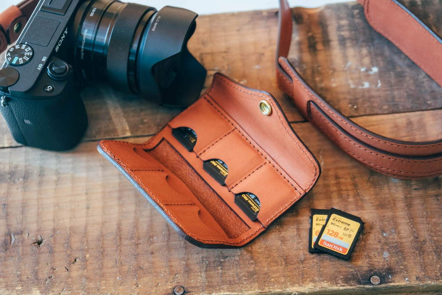 No.61 | 'Chestnut' Leather SD Card Wallet