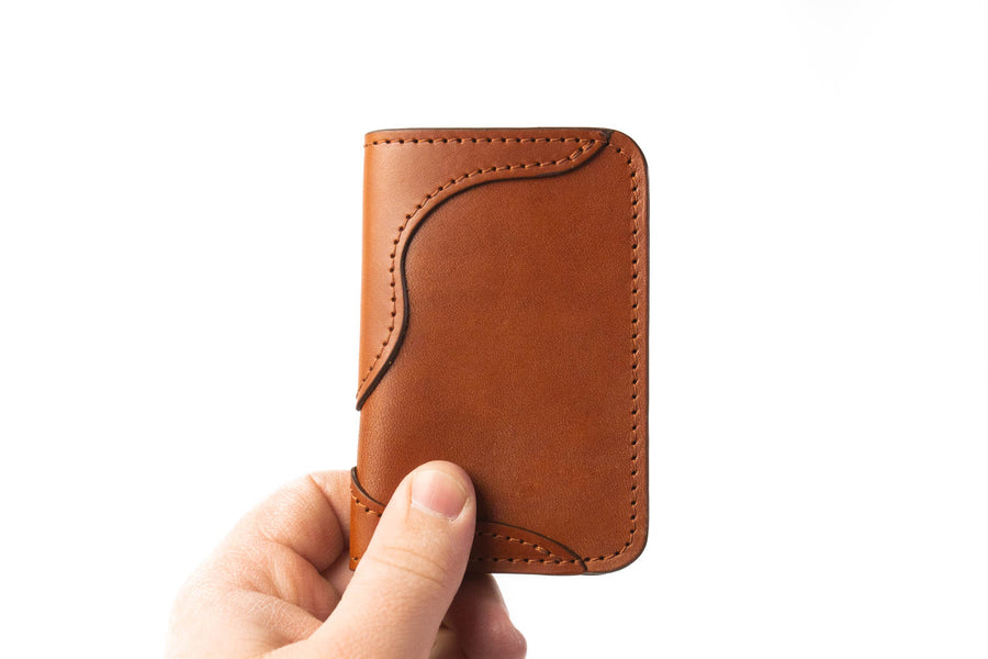 No.68 | 'Chestnut' Western Vertical Leather Wallet