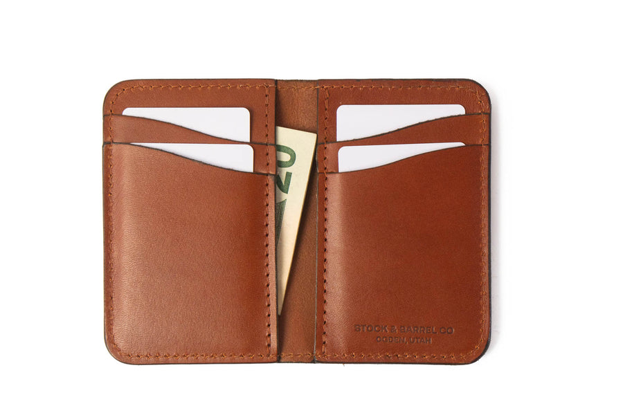 Blemished | No.52 | 'Chestnut' Vertical Leather Wallet