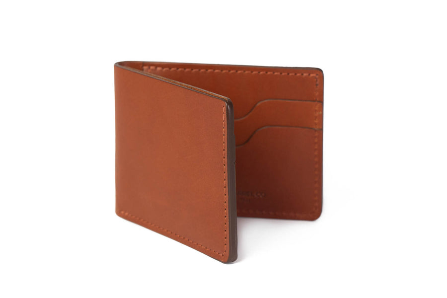 No.55 | 'Chestnut' Men's Leather Bill Fold Wallet