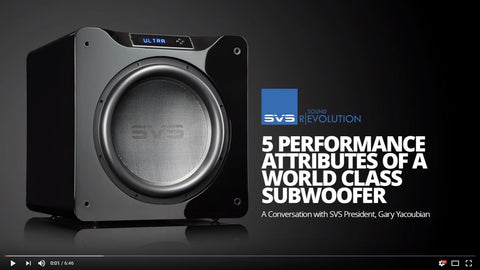 5 Performance Attributes of a World Class Subwoofer