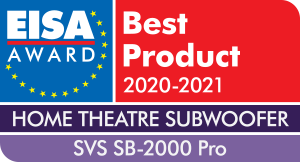 EISA - Best Product - 2020-2021 - Home Theatre Subwoofer - SVS SB-2000 Pro