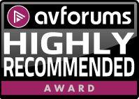 AVForums - Highly Recommended Award