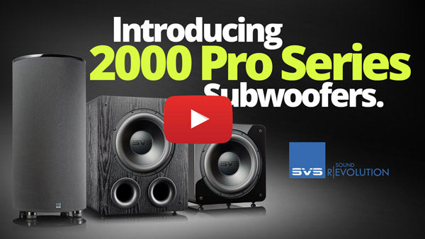 Introducing 2000 Pro Series Subwoofers