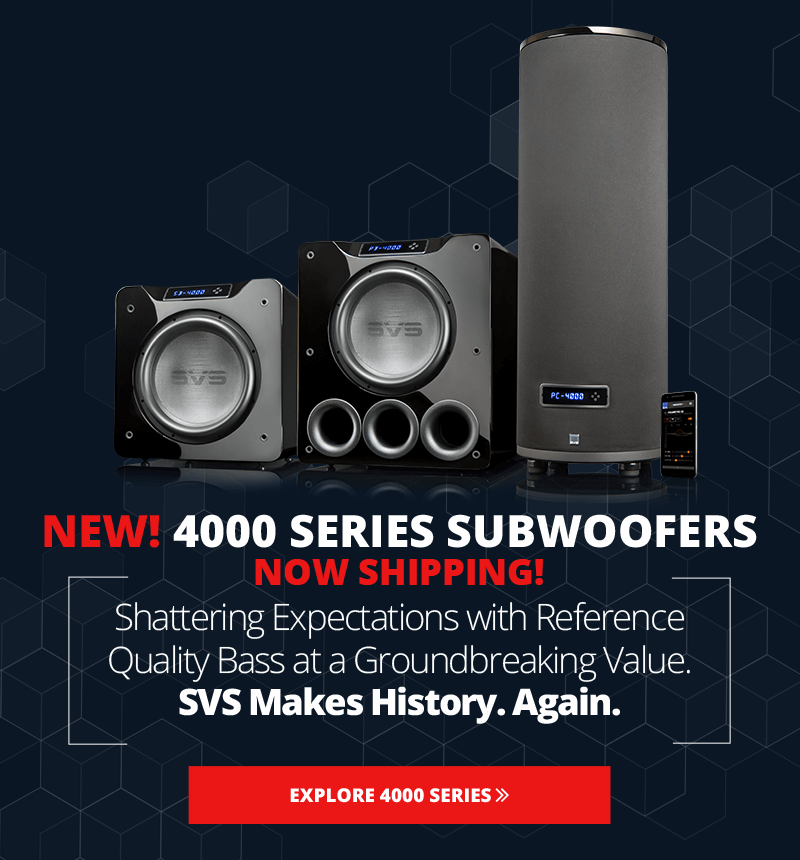 Home audio subwoofer hookups