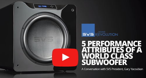 Video link for 5 Perfromance Attributes of a World Class Subwoofer.