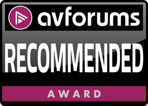 AVForums Recommended Award.