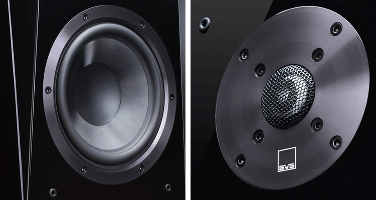 A Commanding Presence In Any Home Audio System The 65 Inch Mid Bass Drivers Feature Composite Glass Fiber Cones That Yield Excellent Stiffness To Mass