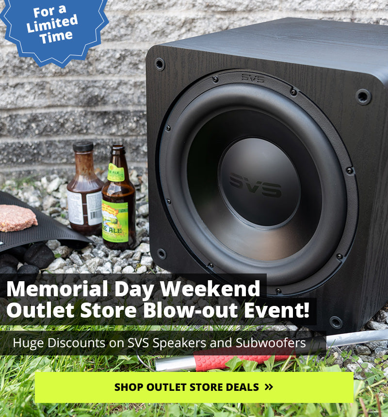 Memorial Day Outlet Special. Links to the outlet page.