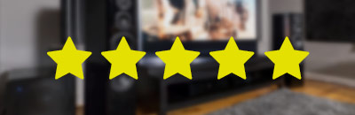 5 Star icon on blurry background. Links to owner reviews.